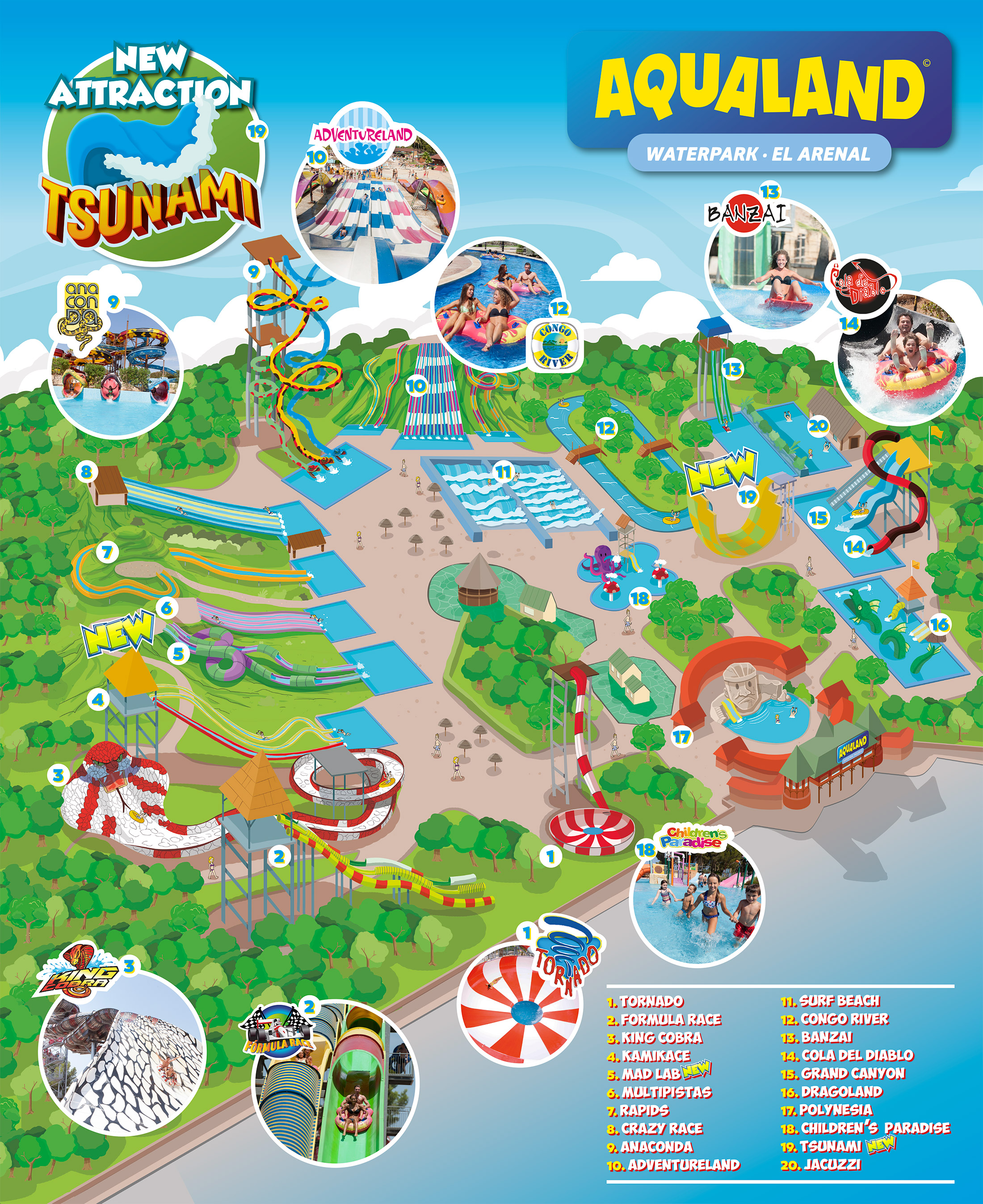 aqualand park map