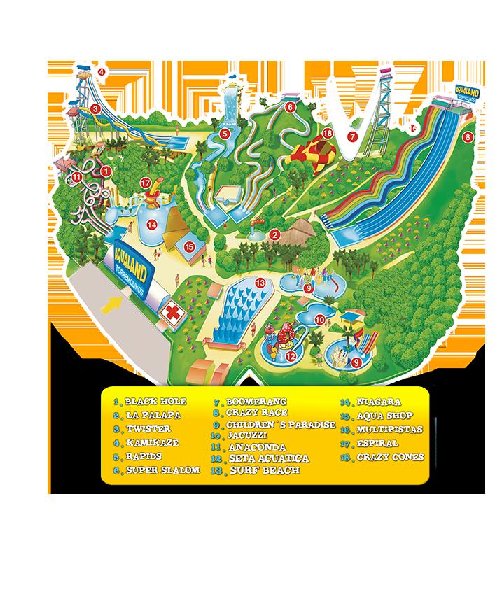 Aqualand Torremolinos Plano Del Parque